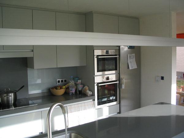 Glaswand Keuken Foto : naast de spatwand.. is dat gewoon melkglas bij jullie?